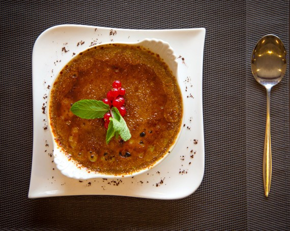 Crème brulée – Restaurant le Cygne