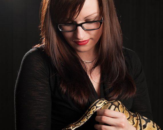 Portrait avec Serpent